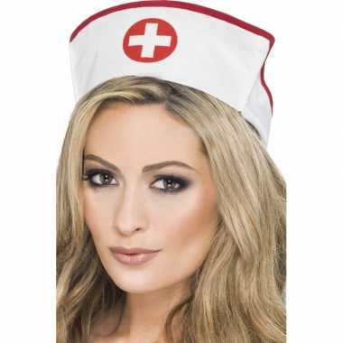 Goedkoop zuster muts rood kruis carnavalskleding