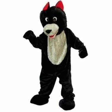 Goedkoop zwart wit wolven carnavalskleding
