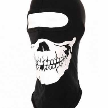 Goedkoop zwarte eengaats bivakmutsen skeletten kop carnavalskleding