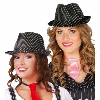 Goedkoop zwarte gleufhoed dames carnavalskleding