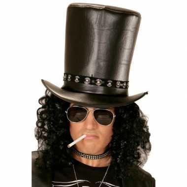 Goedkoop  Zwarte hoge rocksterren hoed carnavalskleding