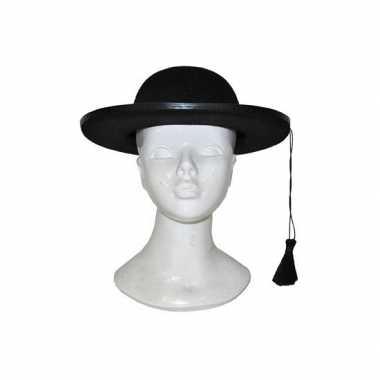 Goedkoop zwarte kapelaan hoed carnavalskleding