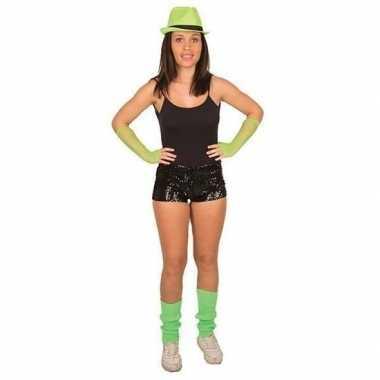 Goedkoop zwarte pailletten hotpants dames carnavalskleding