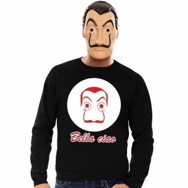 Goedkoop zwarte salvador dali sweater la casa papel masker heren carn
