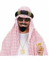 Goedkoop arabische baard snor zwart carnavalskleding