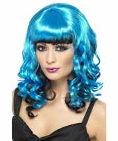 Goedkoop blauwe angel pruik carnavalskleding
