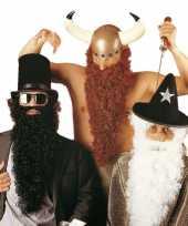 Goedkoop bruine viking baard snor carnavalskleding
