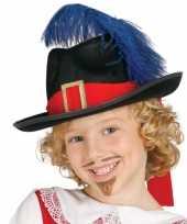Goedkoop carnaval hoed musketier kind carnavalskleding