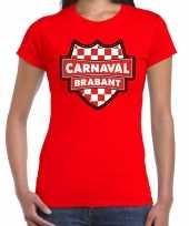 Goedkoop carnaval verkleed t-shirt brabant rood voor dames carnavalskleding