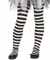 Goedkoop carnavalskleding halloween wit zwarte heksen panties maillots verkleedaccessoire meisjes