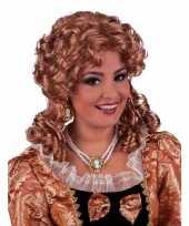 Goedkoop damespruik barok brons haar carnavalskleding