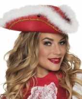 Goedkoop dansmarieke hoedje rood wit carnavalskleding