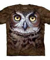 Goedkoop dieren shirts uil bruin carnavalskleding