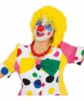 Goedkoop gele clownspruik touwtjes carnavalskleding