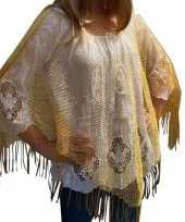 Goedkoop gouden visnet poncho omslagdoek stola dames carnavalskleding