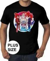 Goedkoop grote maat officieel toppers concert t-shirt zwart heren carnavalskleding