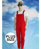 Goedkoop grote verkleed tuinbroek rood volwassenen carnavalskleding