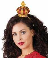 Goedkoop haarband gouden kroontje carnavalskleding