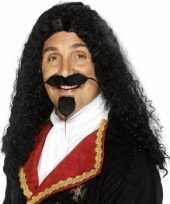 Goedkoop heren musketierspruik carnavalskleding