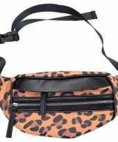 Goedkoop hip heuptasje fanny pack schoudertasje zwart bruin luipaardprint panterprint dierenprint carnavalskleding