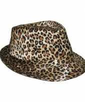 Goedkoop hoed luipaard print carnavalskleding