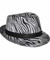 Goedkoop hoed zebra print carnavalskleding