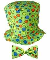 Goedkoop hoge clowns hoed stippen carnavalskleding