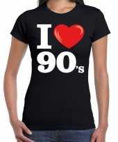 Goedkoop i love shirts dames zwart s bedrukking carnavalskleding 10160721