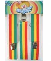 Goedkoop jamaicaanse gekleurde bretels carnavalskleding