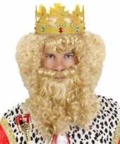 Goedkoop krullende pruik snor baard carnavalskleding