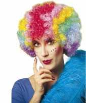 Goedkoop krulletjes pruik meerdere kleuren carnavalskleding