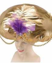 Goedkoop mega sultand hoed goud carnavalskleding