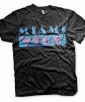 Goedkoop miami vice logo carnavalskleding heren shirt