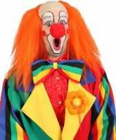 Goedkoop oranje clown pruik carnavalskleding