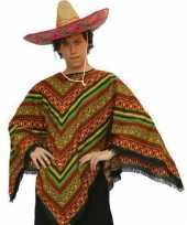 Goedkoop poncho mexico volwassenen carnavalskleding