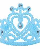 Goedkoop prinsessen tiara blauw carnavalskleding