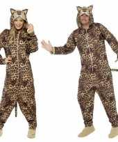 Goedkoop pyamacarnavalskleding luipaard dames heren