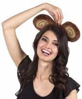 Goedkoop tiara bruine apenoren volwassenen carnavalskleding