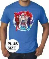 Goedkoop toppers grote maten blauw toppers concert officieel shirt heren carnavalskleding
