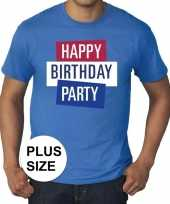 Goedkoop toppers grote maten toppers happy birthday party heren t-shirt officieel carnavalskleding