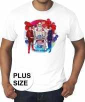 Goedkoop toppers grote maten wit toppers concert officieel shirt heren carnavalskleding