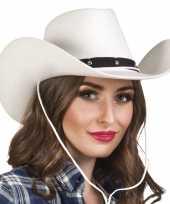 Goedkoop verkleed dames cowboyhoeden wichita wit vilt carnavalskleding