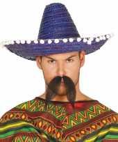 Goedkoop verkleed sombrero blauw mexico volwassenen carnavalskleding