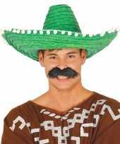 Goedkoop verkleed sombrero groen mexico volwassenen carnavalskleding