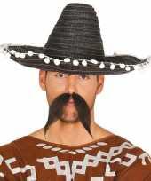 Goedkoop verkleed sombrero zwart mexico volwassenen carnavalskleding