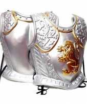 Goedkoop zilverkleurige middeleeuws harnas carnavalskleding